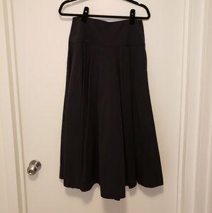 Uniqlo Skirts - Uniqlo U Navy Seersucker Cotton Round Skirt